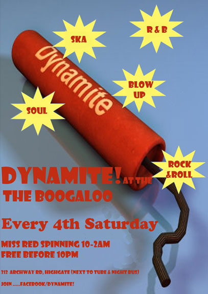 dynamite at the boogaloo poster raucous rock n roll event