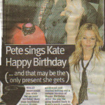 Pete sings happy birthday press cut