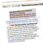 Time Out - May 2006 - press cut