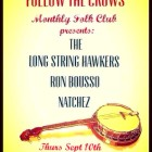 Sept 10th – Follow the Crows